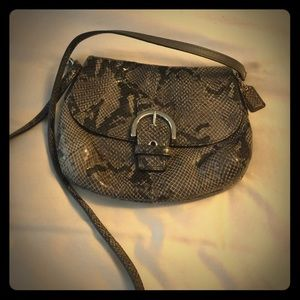 Coach Snake Skin Crossbody